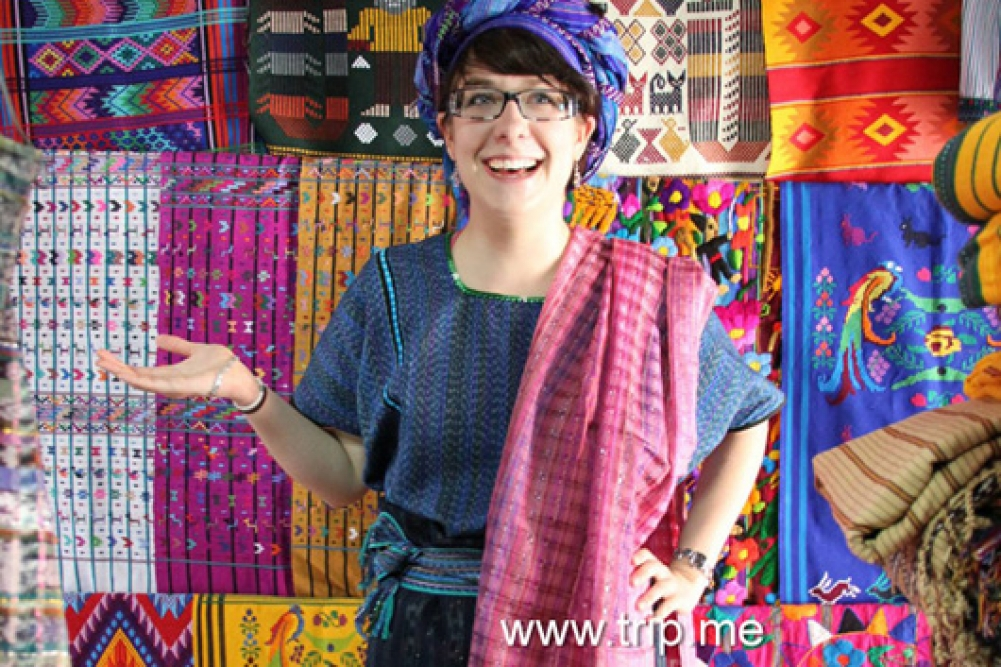 Wonderfully colored textiles can be found all over Guatemala.