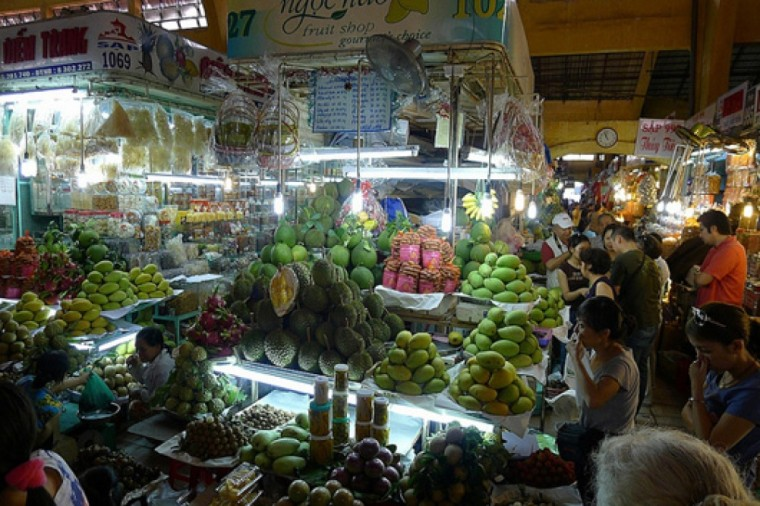 Vietnam, vietnamese food, market, fruit,
