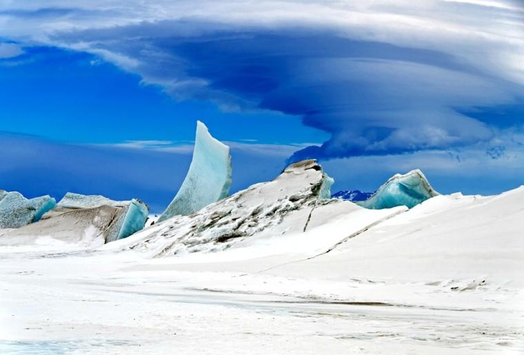 Antarctic sea and sky