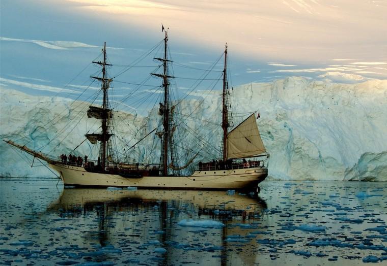 Antarctica sailing vessel