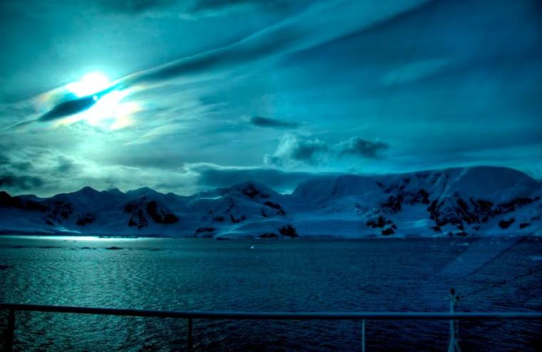 Sun Comet Antarctica