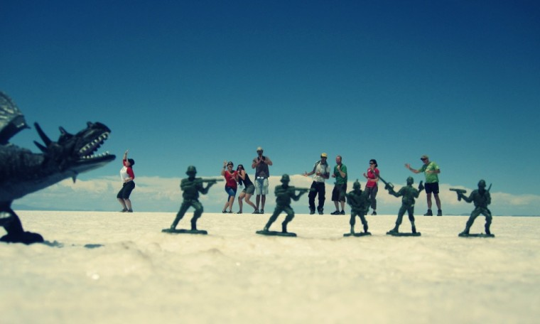 action packed salt flats