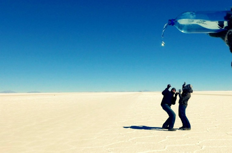funny salt flats photo